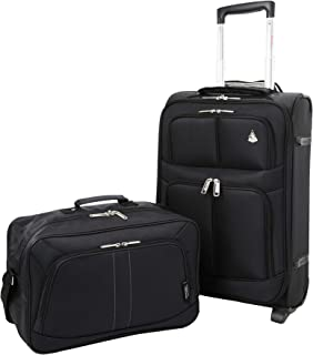 Large Capacity Maximum Allowance 22x14x9 Airline Approved Delta United Southwest Carry On Luggage Rolling Travel Trolley Suitcase | Underseat Travel Cabin Bag Personal Item 16x10x8in for Men & Women
