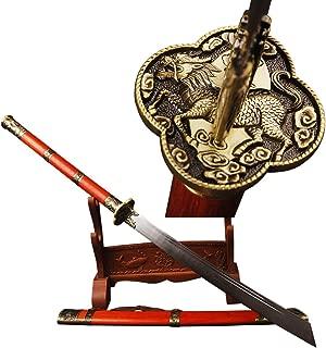 YJ COOL Kangxi Emperor Horse Chopping Broadsword Sabre Folded Steel Chinese Sword