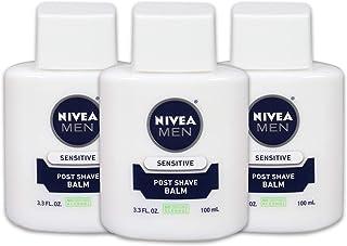 NIVEA Men Sensitive Post Shave Balm - Soothes and Moisturizes Skin After Shaving - 3.3 fl. oz. Bottle (Pack of 3)