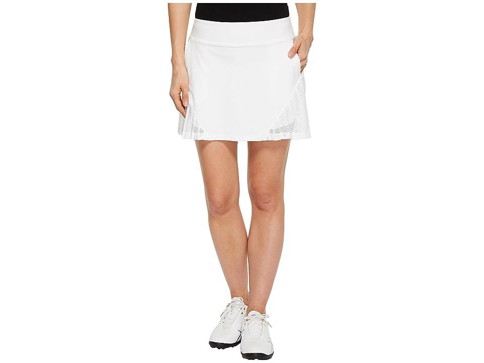 Under Armour Golf Links Knit Mesh Skort (White/White/White) Women