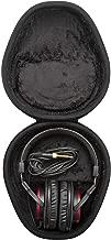 Sony MDRV55 Red Extra Bass & DJ Headphones with Knox Gear Hard Shell Headphone Case Bundle (2 Items)