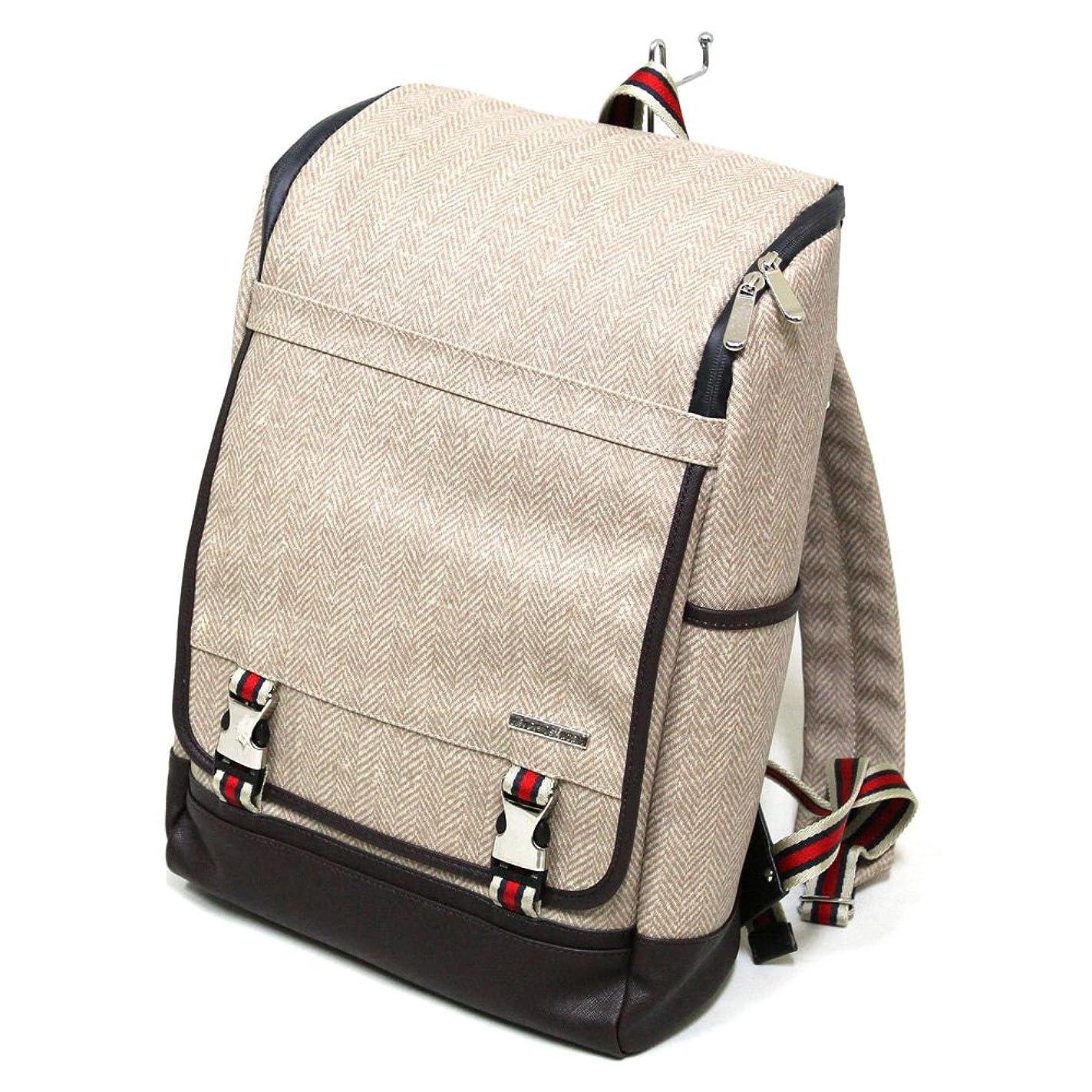 クールゆるくエッセンス十川鞄 B.C.+ISHUTAL ビーシーイシュタル ガリン スクエア バックパック リュックサック ベージュ IGN-13507-BG