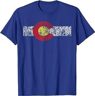 Distressed Colorado State Flag TShirt Denver Co Patriotic