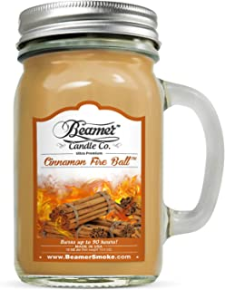 Beamer Candle Co. 12oz Cinnamon Fire Ball Scented Ultra Premium Jar Candle. 90 Hr Burn Time. USA Made