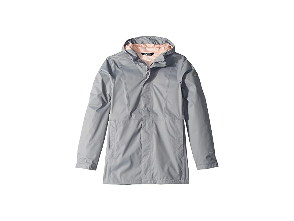 The North Face Kids Laney Rain Jacket (Little Kids/Big Kids) (Mid Grey) Girl