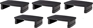 AmazonBasics Adjustable Computer Monitor Stand Riser, 5-Pack