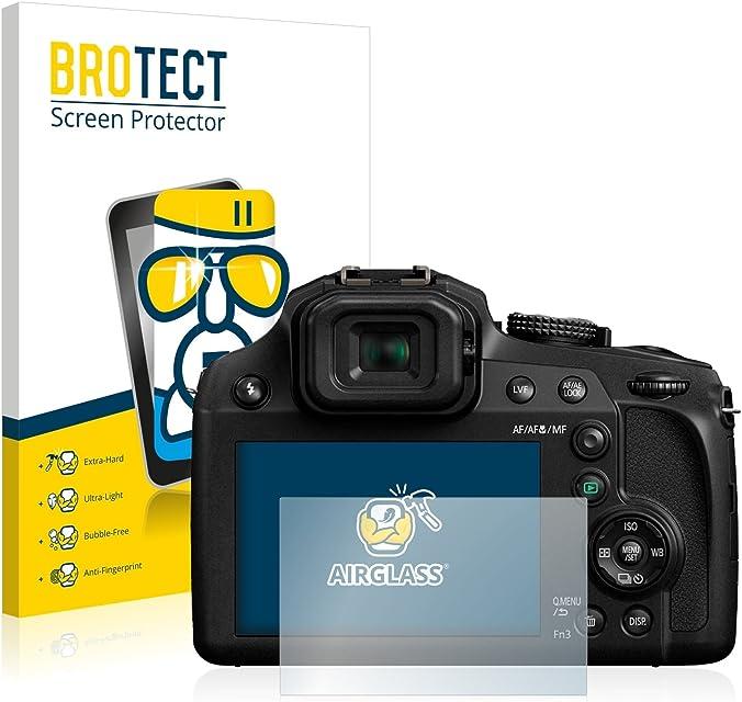 BROTECT Protector Pantalla Cristal Compatible con Panasonic Lumix DC-FZ82 Protector Pantalla Vidrio Dureza 9H AirGlass
