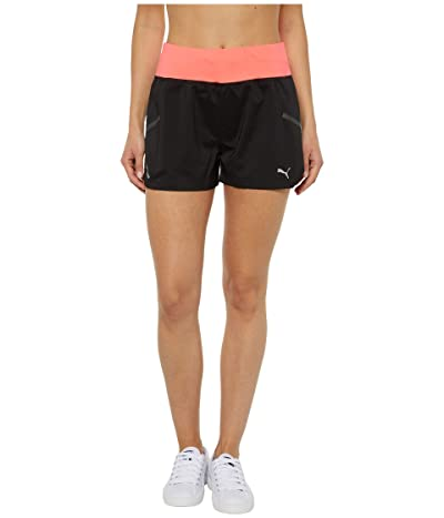 PUMA Runner ID 3 Shorts (Puma Black/Ignite Pink) Women
