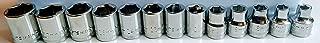Craftsman 3/8 Drive 13 Piece 6 Pt Point Metric MM Standard STD Inch Socket Set includes 6, 7, 8, 9, 10, 11, 12, 13, 14, 15, 16, 17, 18mm sockets, Bulk Packed