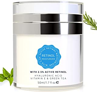Essy Retinol Cream for Face and Eye Area - with Active Retinol, Hyaluronic Acid, Vitamin E and Green Tea, Anti Aging Formula Reduces Wrinkles, Night and Day Moisturizing Cream