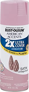 Rust-Oleum 302630 American Accents Ultra Cover 2x Satin, Each, Vintage Blush