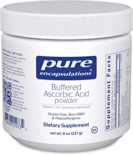 Pure Encapsulations - Buffered Ascorbic Acid Powder - Vitamin C Supplement for Sensitive Individuals - 8 Ounces
