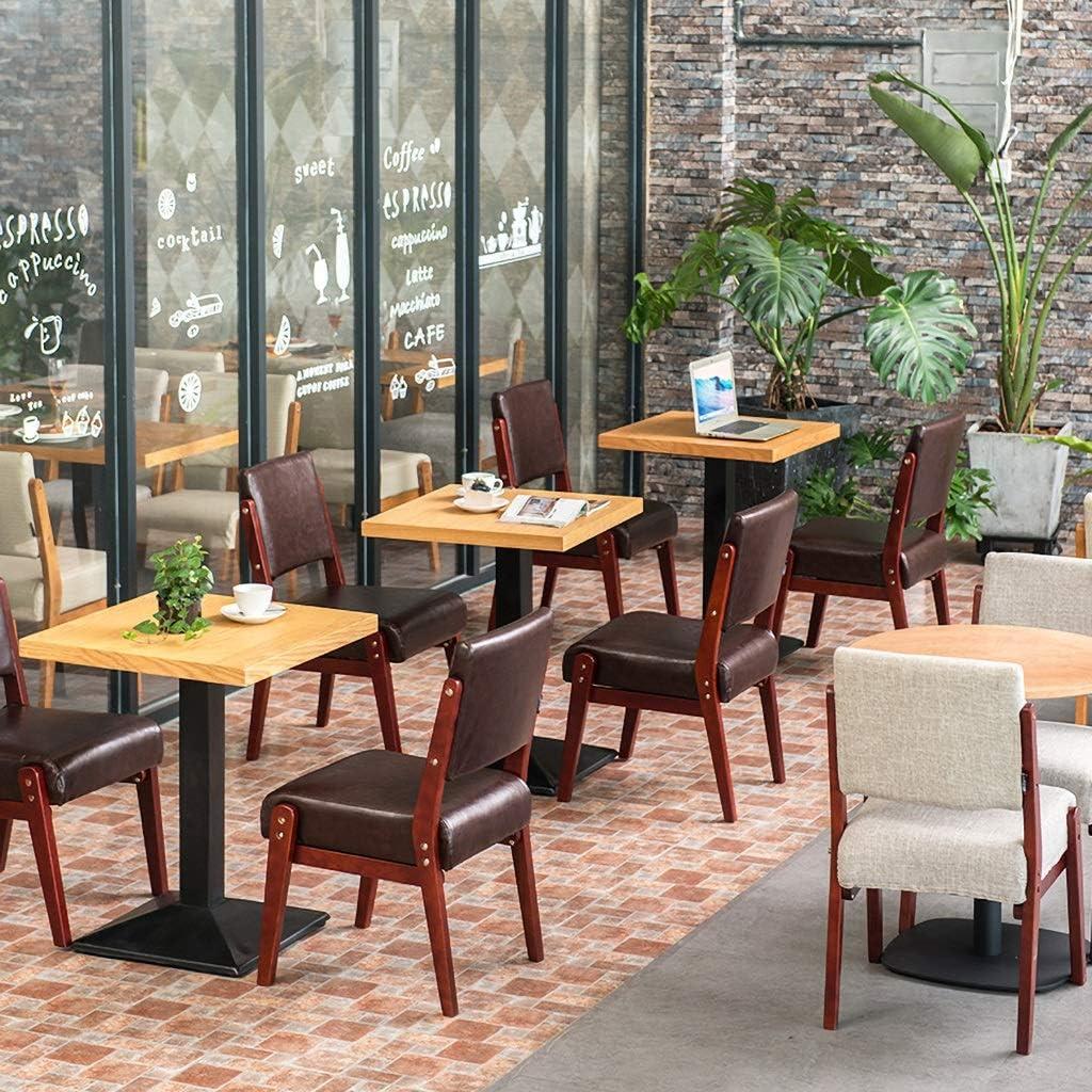 JHZY Fauteuil de loisirs Table et chaise rétro en tissu massif en bois massif Chaise de salle à manger chaise de bureau d'hôtel restaurant (couleur : A5) A1