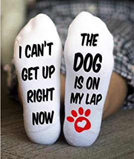 Dog Lovers Socks For Women Cotton Funny Sayings Gift One Size