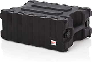 """Gator Cases Pro Series Rotationally Molded 4U Rack Case with Shallow 13"""" Depth; Made in USA (G-PRO-4U-13)"""