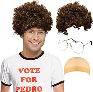 Napoleon Dynamite Costume Accessories - Economy Brown Afro Wig,Napoleon Dynamite Sunglasses