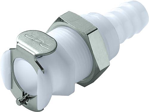 "wholesale Colder PLCD16005 popular Acetal Tube Fitting, Coupler, Shutoff, Panel Mount, 1/4"" high quality Flow Coupler x 5/16"" Barb online sale"