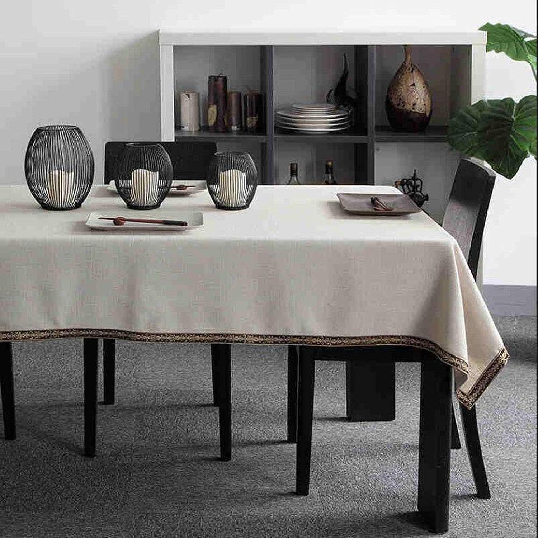 Tisch-Restaurantrestaurant-Café-Tischdekorationstischdecke der europäischen Art der Normallackgewebetischdecke einfache (Farbe   Weiß, größe   140  220cm) B07LGB5325 Internationale Wahl   | München Online Shop
