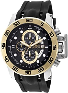 Invicta Men's I-Force 51mm Stainless Steel Chronograph Quartz Watch with Black Polyurethane Band, Black (Model: 19253)