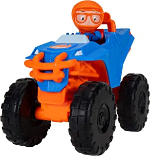 """Blippi Monster Truck Mobile - Mini Vehicle with Freewheeling Features Including 2"""" Character Toy Figure and Cool Hydraulic..."""