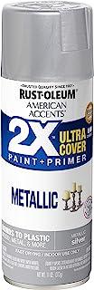 Rust-Oleum 327910 American Accents Spray Paint, 11 Oz, Metallic Silver