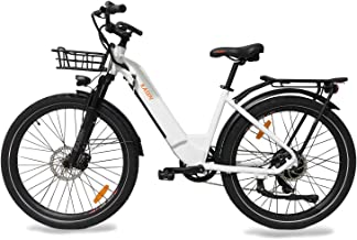 kasen City Bike Electric Communicator Ebike Step Thru 26 inch 500w 48v Samsung Lithium Battery Throttle and Pedal Assistant
