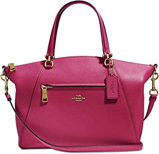 COACH Women's Pebbled Prairie Satchel