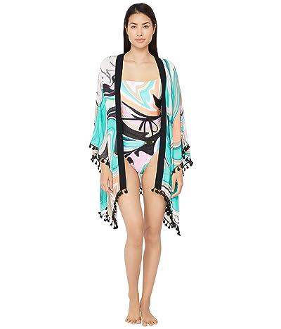 Trina Turk Nazare Tassel Kimono Swimsuit Cover-Up (Multi) Women
