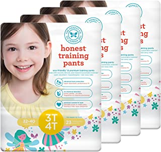 The Honest Company Training Pants,  Fairies 3T/4T,  92 Count
