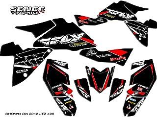 Senge Graphics kit compatible with Suzuki 2003-2008 LTZ 400, 13 Fly Racing Black Graphics Kit