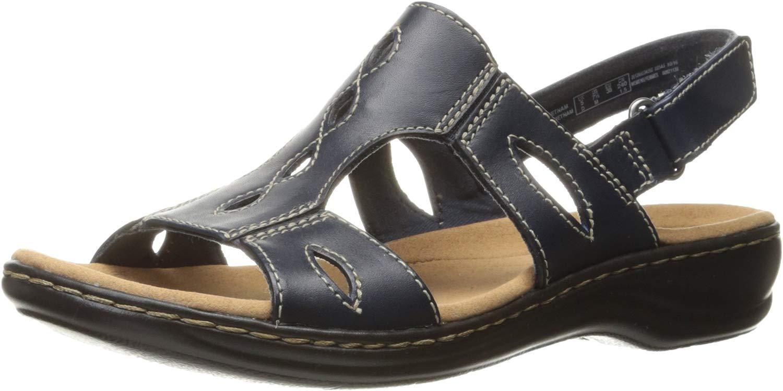Clarks - - Frauen Leisa Lakelyn Sandale, 37.5 EUR, Navy Leather