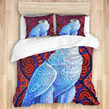 HKIDOYH Duvet Cover Set,red Bird Hawk Bird of Prey Falcon Grey Falcon Falcons Pink Swooping Flying Flight Birds,Comforter ...