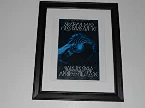 Cleveland Vinyl Framed Grateful Dead/Miles Davis 1970 Rare Tour Promo Fillmore West Mini-Poster, 14