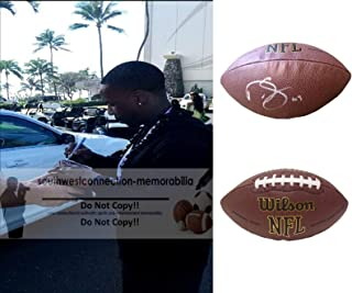 Darren Sproles Philadelphia Eagles Autographed Hand Signed NFL Wilson Football with Exact Proof Photo of Signing, New Orleans Saints, San Diego Chargers, Kansas State Wildcats, COA