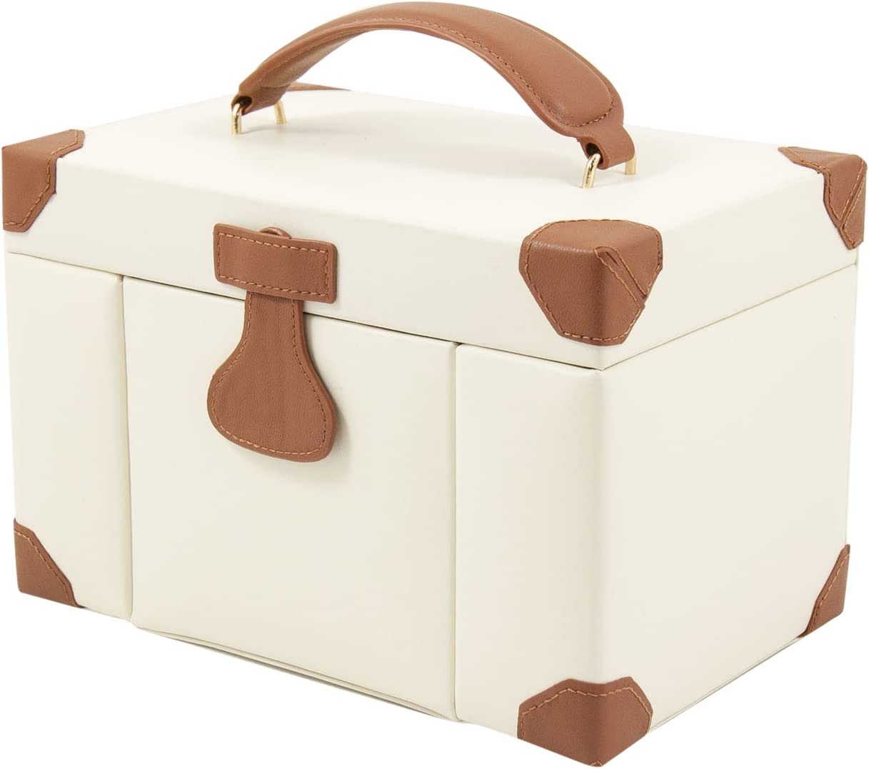 Jewelry Box Travel Case Ivory