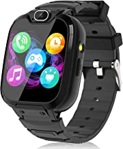 Kids Smart Watch for Boys Girls – Kids Smartwatch with Call SOS 14 Games Camera Video Player Music Player Torch Light Calculator 12/24 hr Touch Screen Children Smart Watch for Kids Age 4-12 (Black)