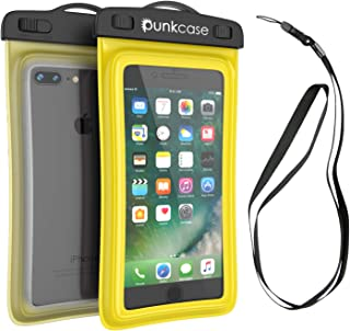 Waterproof Phone Pouch, PunkBag Universal Floating Dry Case Bag for Most Cell Phones incl. iPhone 8 Plus & Samsung Galaxy S9 | Perfect for Keeping Your Cellphone & Valuables Dry and Safe (Yellow)