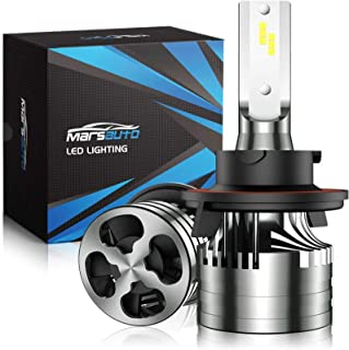 Marsauto 9008/H13 LED Headlight Bulbs with Fan,16000LM 6500K 60W Xenon White,M2 Series Hi/Lo Beam Conversion Kit