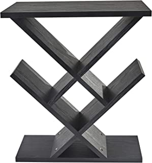 Adesso Zig-Zag Accent Table - Table Bookshelf - Storage Side Table. Home Furnishings and Decor