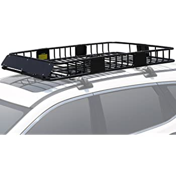 "Leader Accessories Roof Rack Cargo Basket with 150LB Capacity Car Top Luggage Carrier 64""x 39""x 6"" Fit for SUV Truck Cars"