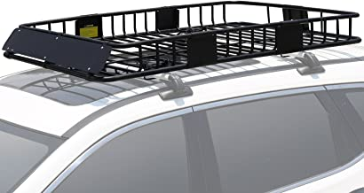 Leader Accessories Roof Rack Cargo Basket with 150 LB Capacity Extension 64