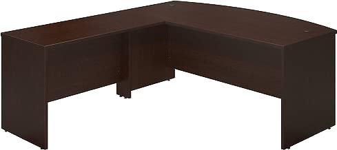 Bush Business Furniture Series C Elite 72W x 36D Bowfront Desk Shell with 48W Return in Mocha Cherry