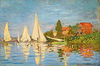Claude Monet Regattas at Argenteuil 1872 French Impressionist Cool Wall Decor Art Print Poster 36x24