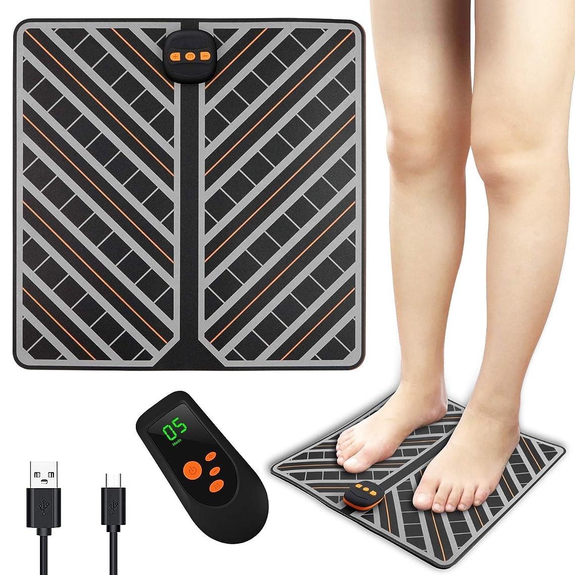うそつき冊子類人猿足のマッサージトマッサージャーフットレッグマッサージUSB充電EMSレザー導電性シルバーペースト、リモートコントロール、神経痛およびけいれん緩和