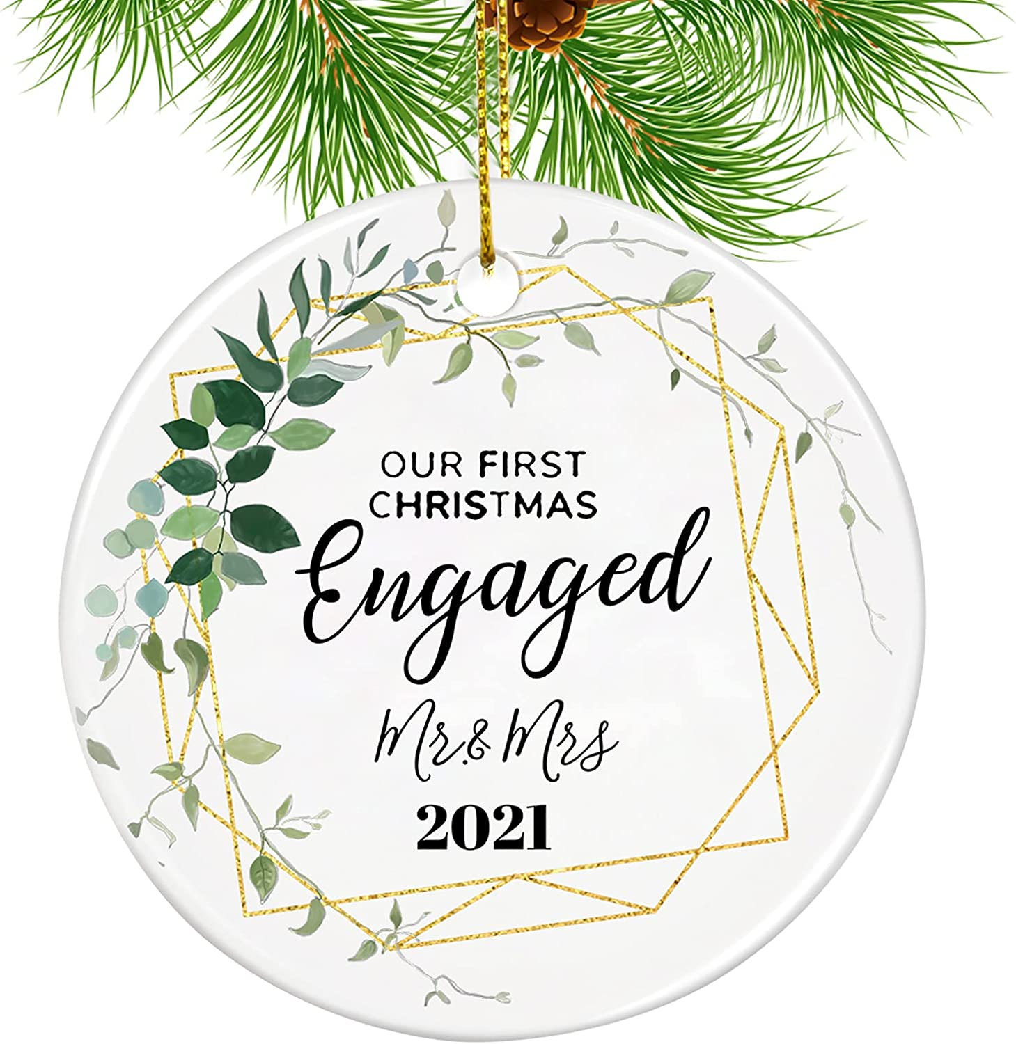 2021 Christmas wholesale Ornaments MBVBN Engaged Max 59% OFF Our Orna First