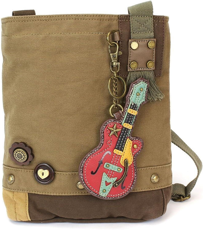 Chala Guitar Patch Crossbody Bag, Olive