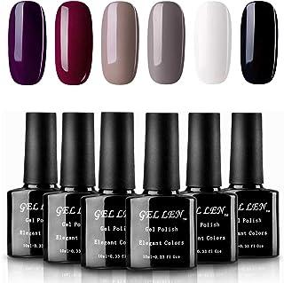 Gellen Classic Elegance Colors UV Gel Nail Polish Set, Pack of 6 Colors