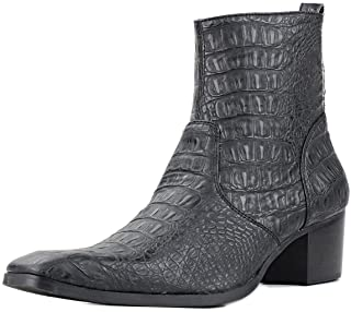 Suetar Mens Wild Snake and Crocodile Style Handmade Leather Cowboy Boots JY008