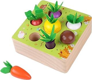 KOAICS Carrot Harvest Game Wooden Toys -Montessori Toys...