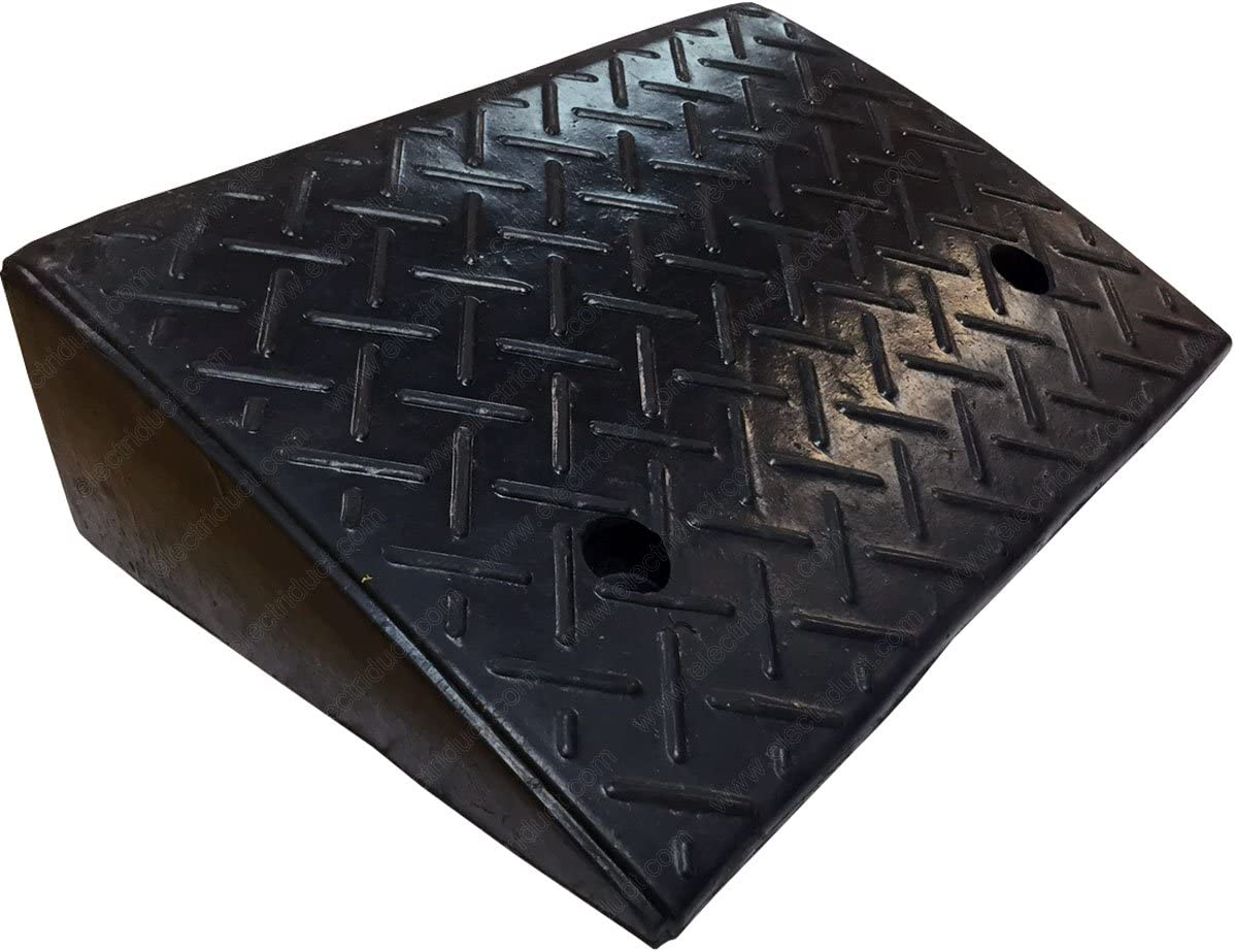 """Electriduct 4.3"""" Heavy Duty Rubber Curb Ramp 20,000 lbs Weight Capacity (10 Tons): Home Improvement"""